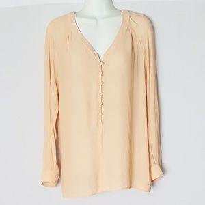 Zara Peach Semi Sheer Blouse